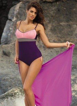 edd22af90b5c1d Kostium kąpielowy Whitney Mora-Bon Ton-Fango M-253 Fiolet z lekkim różem