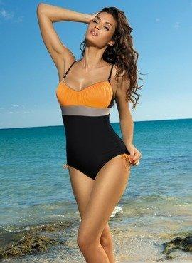 b40950a868773a Strój kąpielowy Whitney Nero-Calendula-Fango M-253 Czarno-pomarańczowy (227
